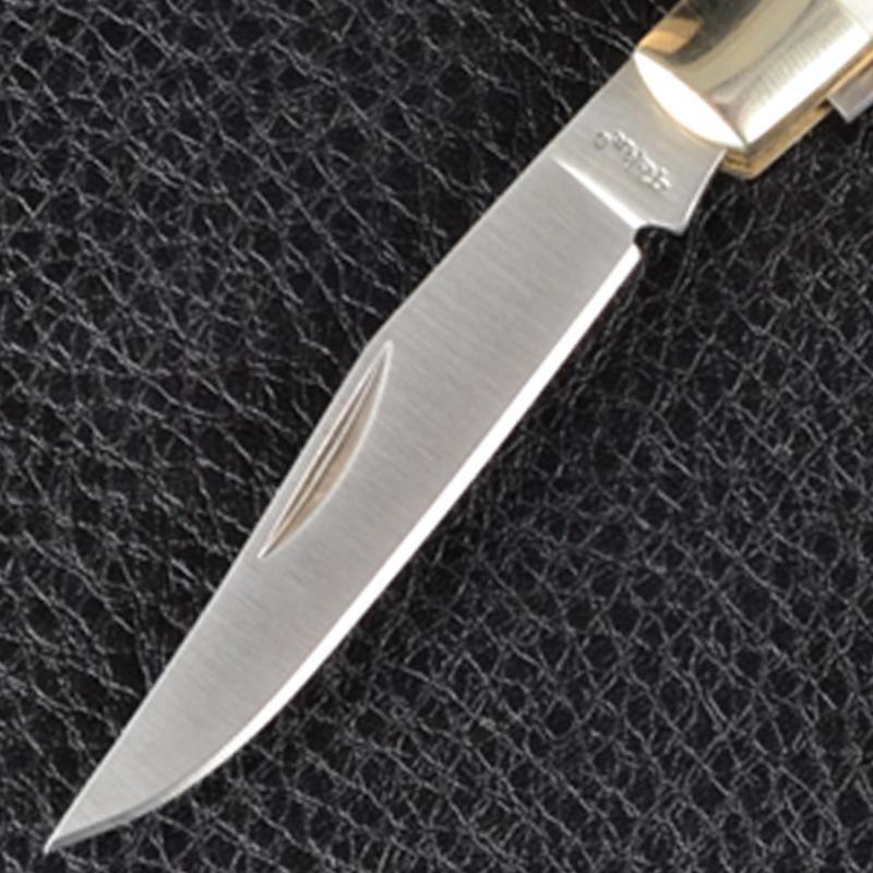 Нож TEKUT Hobo MK5006 - рукоятка из кости (длина: 16.0cm, лезвие: 7.1cm), в подарочной коробке