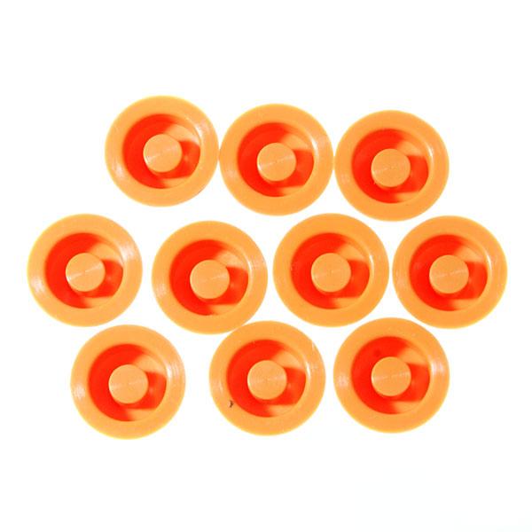 Cиликоновые кнопки для фонарей (14 x 8mm ), оранжевые