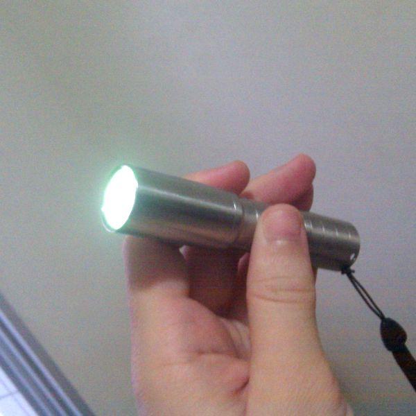 Фонарь светодиодный UltraFire C3 (Cree Q5-WC, 190 люмен, 5 режимов), нержавеющая сталь