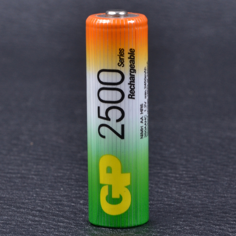 Аккумулятор никель-металлогидридный Ni-MH AA (R6) GP, 1.2V (2500mAh)