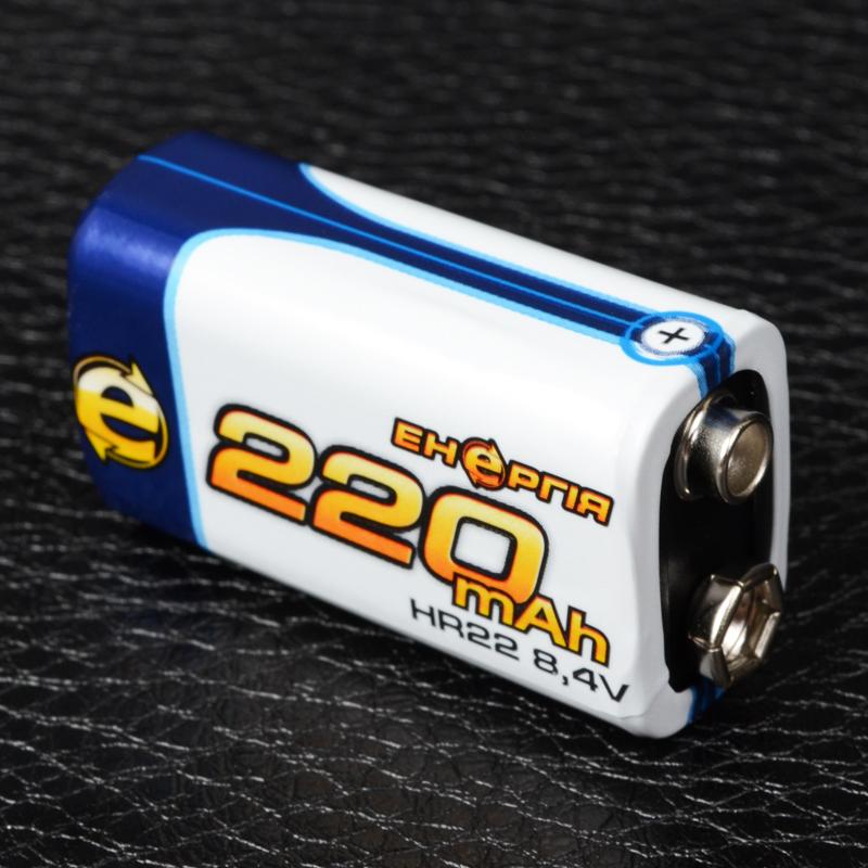 Аккумулятор никель-металлогидридный Ni-MH Крона Энергия, 9V (220mAh)