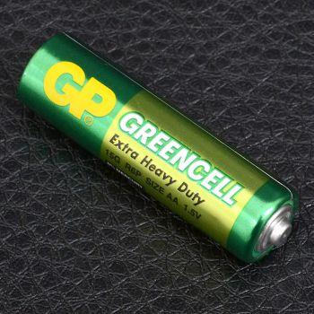 Батарейка солевая AA Greencell (15G, R6P) GP 1.5V