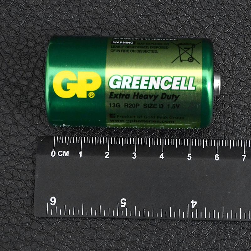 Батарейка солевая D Greencell (13G, R20P) GP 1.5V
