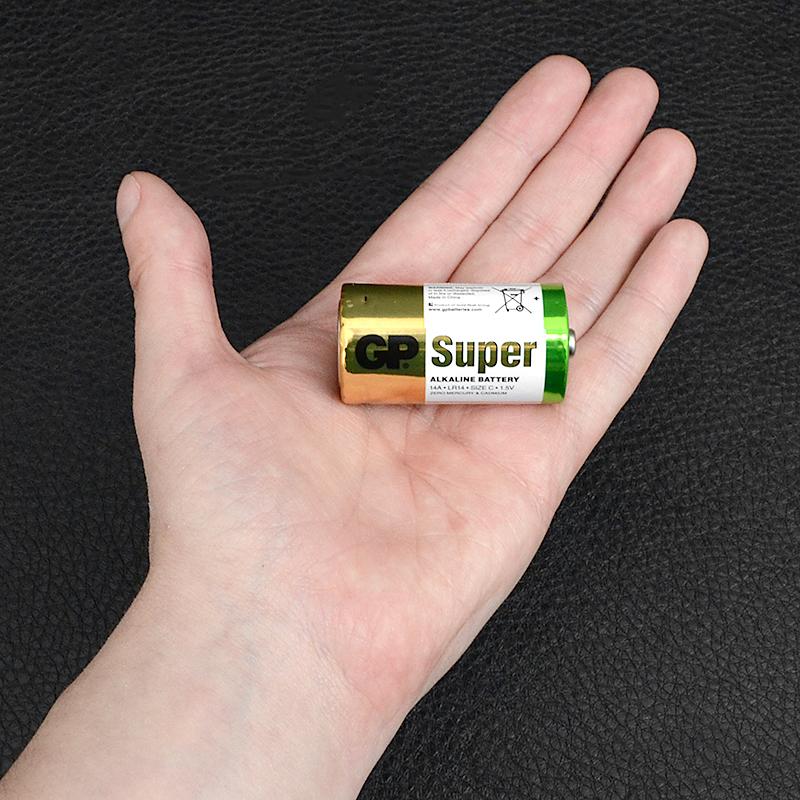 Батарейка щелочная, Alkaline C (14A, LR14) GP 1.5V