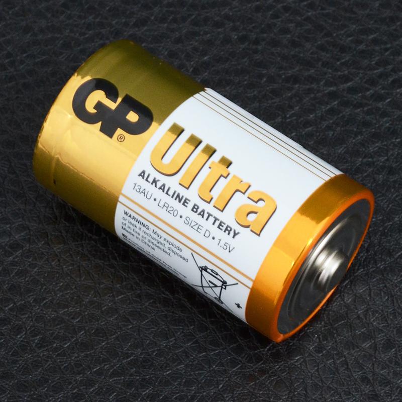 Батарейка щелочная, Alkaline D Ultra (13AU, LR20) GP 1.5V