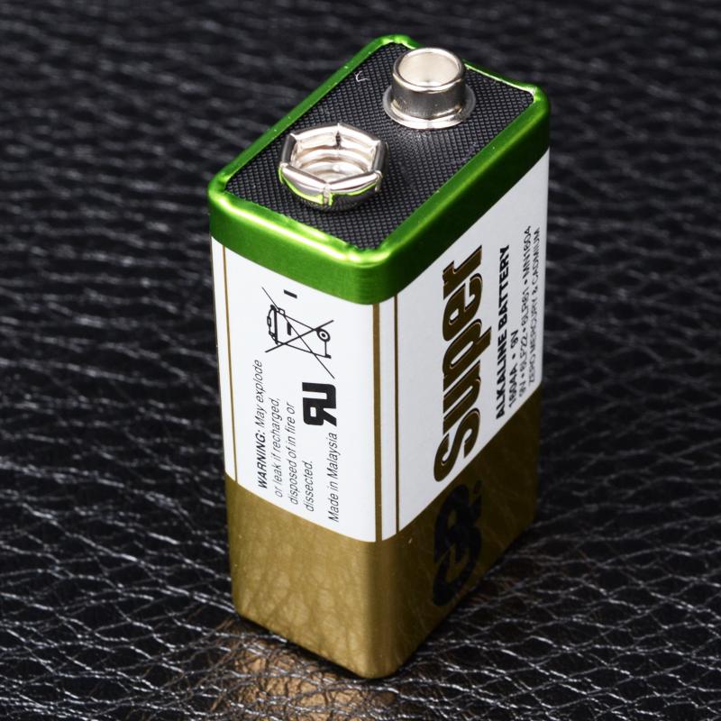 Батарейка щелочная, Alkaline КРОНА (1604A, 6LF22, 6LR61, MN1604) GP 9V