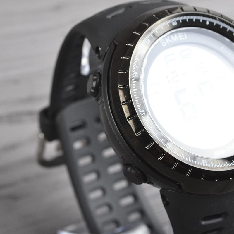 Часы Skmei 1167, черные, в металлическом боксе