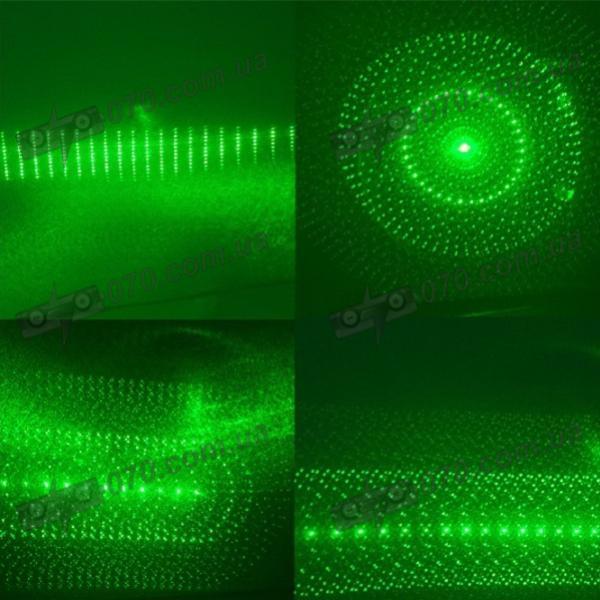 Зеленая лазерная указка. Зеленый лазер 200mW с калейдоскопическими спецэффектами (532nm, 2xAAA)