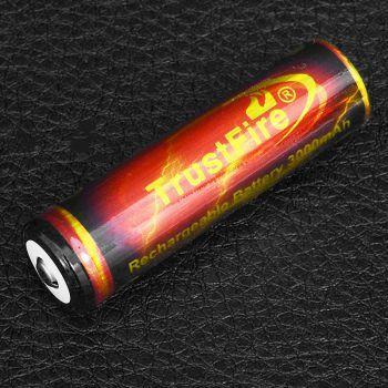 Аккумулятор литиевый Li-Ion 18650 TrustFire 3.7V (3000mAh), незащищенный