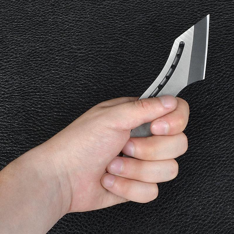 Нож тактический BOKER в ножнах (сталь 440сс, полная длина 15см), серебристый с черным