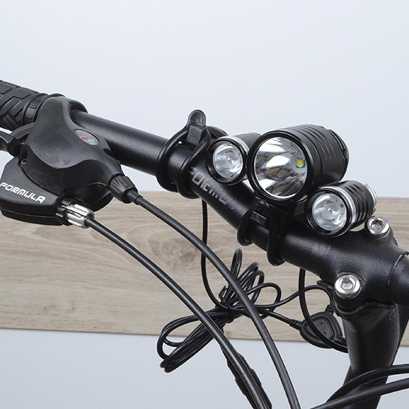 Велофара TrustFire TR-D003 (1xCree XM-L, 2xCree XPE, 1800 люмен, 3 режима)