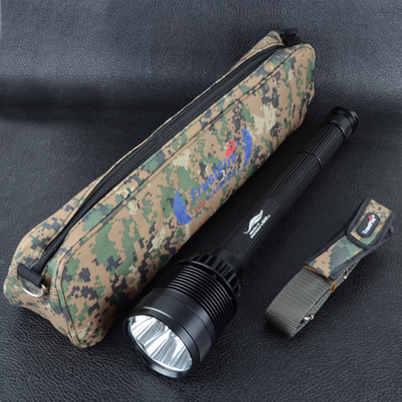 Фонарь TrustFire X100 (7xCree XM-L2, 8000 люмен, 5 режимов, 3/4x26650), в камуфляжной сумке