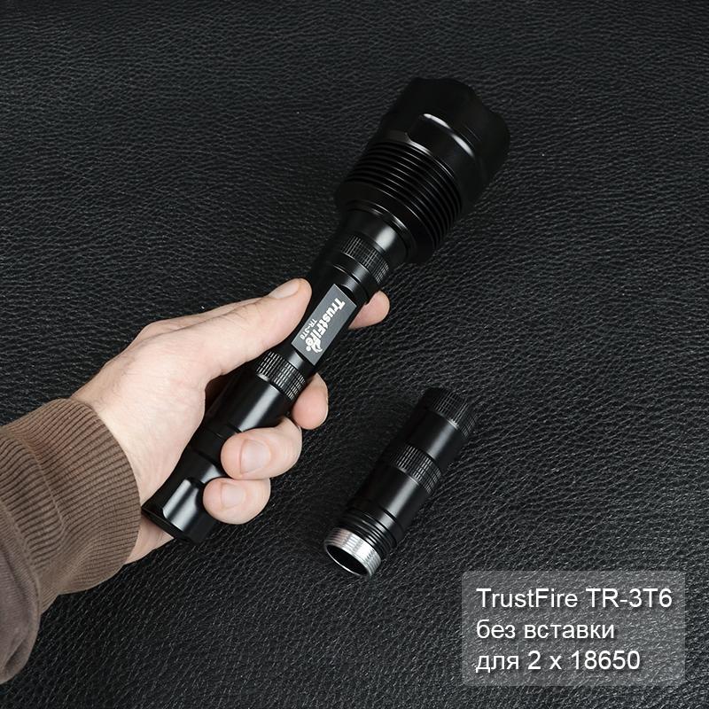 Фонарь TrustFire TR-3T6 (3xCree XM-L T6, 3800 люмен, 5 режимов, 2/3x18650)