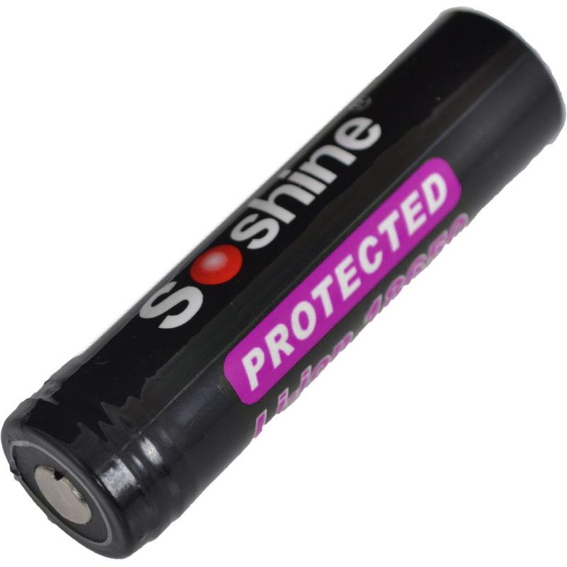 Аккумулятор литиевый Li-Ion 18650 Soshine (Panasonic) 3.7V (3100mAh), защищенный