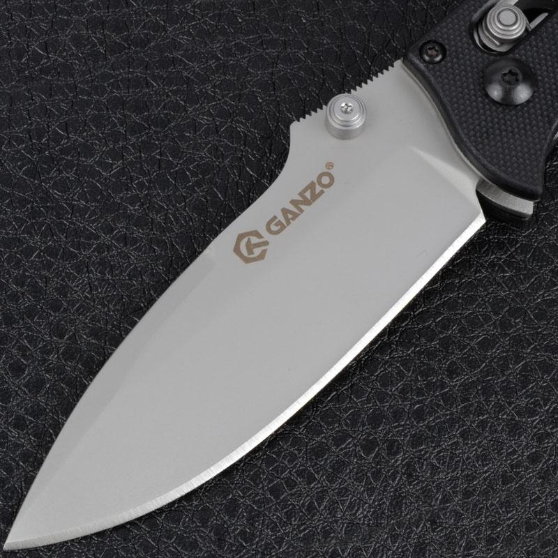 Нож складной Ganzo G704 (длина: 200мм, лезвие: 86мм), черный