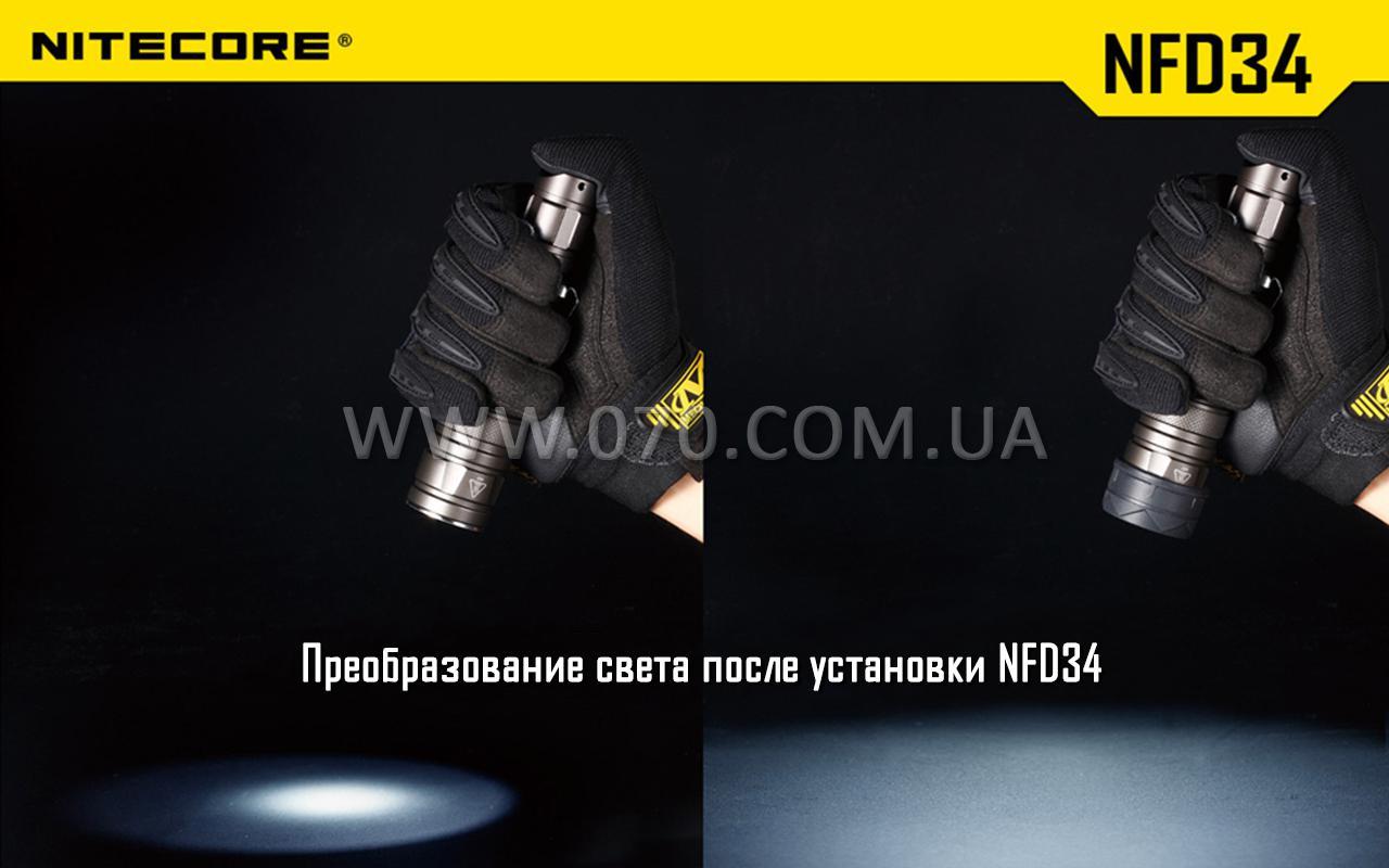Диффузор фильтр для фонарей Nitecore NFB34 (34mm), синий