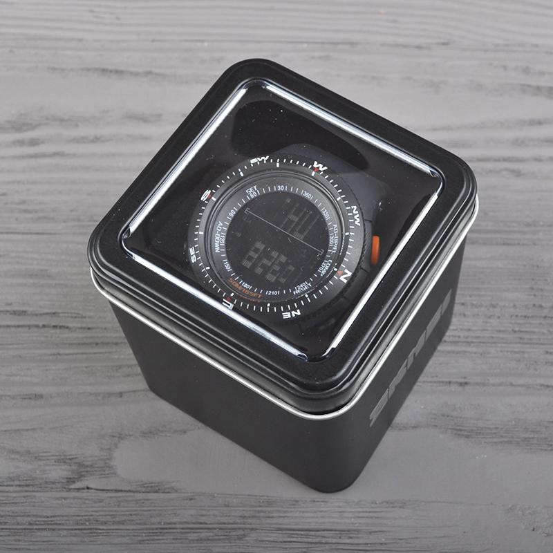 Часы Skmei 0989, серые, в металлическом боксе