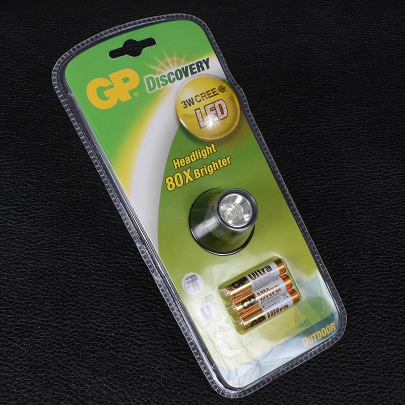 Фонарь налобный GP Discovery LOE206 (Cree XP-G R5, 130 люмен, 1режим, 3xAAA)