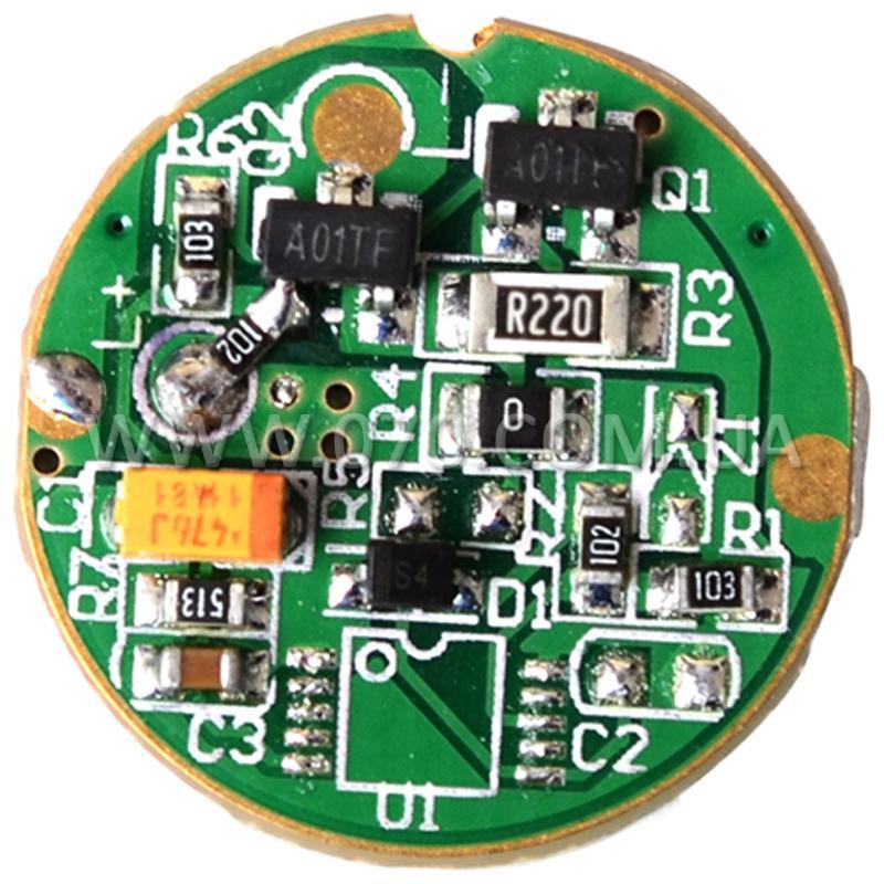 Цифровой драйвер светодиода для фонарей (TrustFire Z6, C8, Z3), 1 режим
