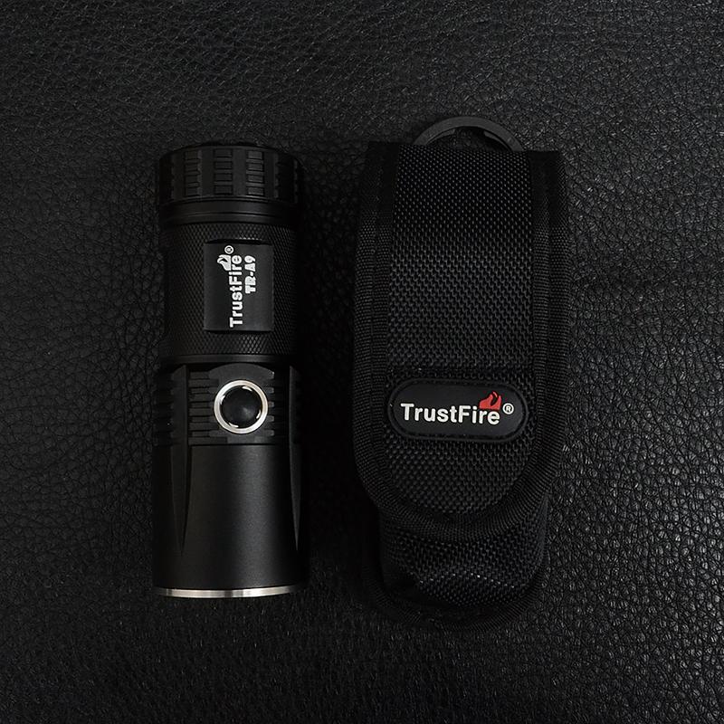 Фонарь TrustFire A9 (Cree XM-L2, 800 люмен, 5 режимов, 4xAA/14500), комплект в коробке