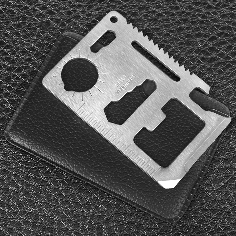 11 в 1 - Нож - кредитная карта, многофункциональный (6.8cm x 4.4cm)