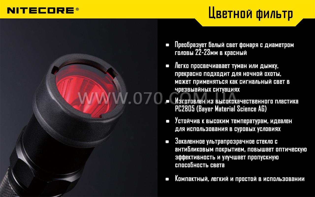 Диффузор фильтр для фонарей Nitecore NFB23 (22-23mm), синий