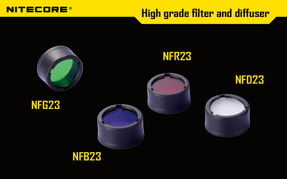 Диффузор фильтр для фонарей Nitecore NFD23 (22-23mm), белый