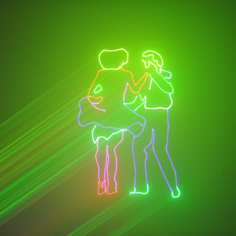 Лазерная установка, анимационная с управлением от компьютера LV350RGB (RGB, 350mW, ILDA)