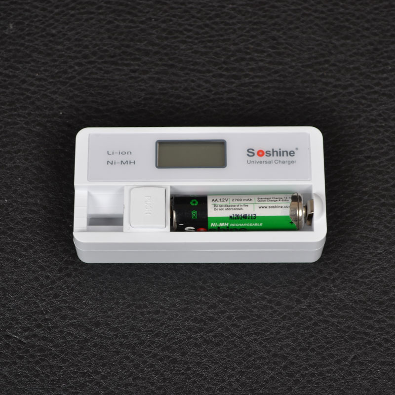 Зарядное устройство Soshine SC-S7 с LCD дисплеем (18650, 14500, 16340, CR2, CR123, AA, AAA)