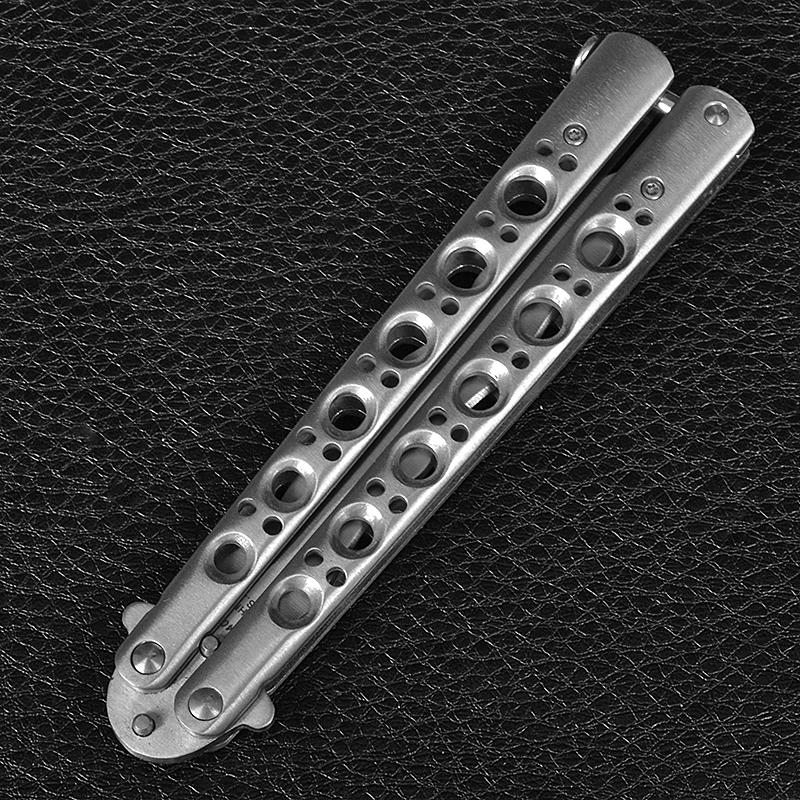 Нож бабочка Benchmade с волнистым лезвием (длина: 24cm, лезвие: 10cm), silver