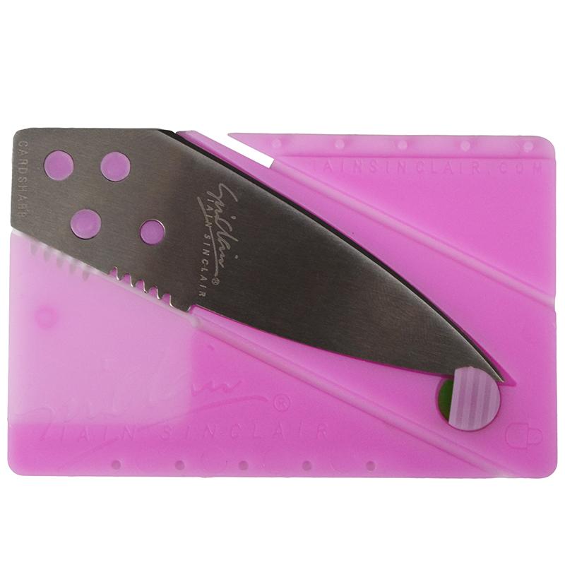 Нож кредитная карта Iain Sinclair Cardsharp (длина: 14.2cm, лезвие: 6.2cm), розовый