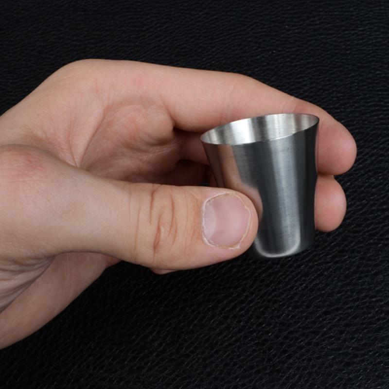 Стаканы, рюмки туристические (6шт, 30мл), металические в чехле
