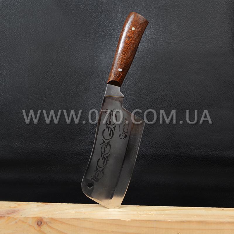 Нож бытовой, секач Спутник (290 х 70 х 3mm), с притыном