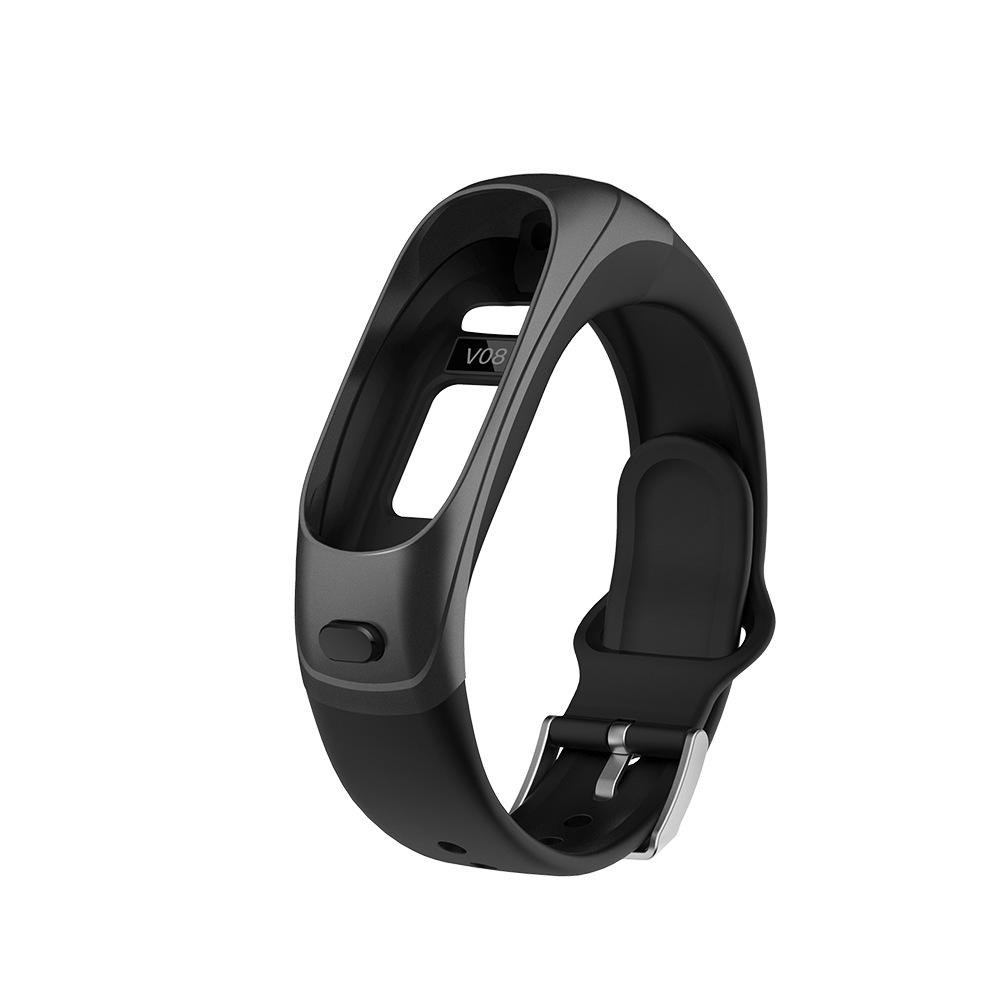 2 в 1 - Смарт-браслет + Bluetooth-гарнитура Skmei V08S, черный