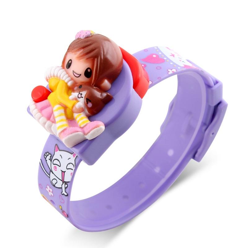 Часы детские Skmei Девочка 1240, фиолетовые, в металлическом боксе