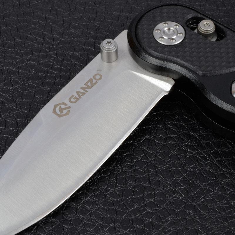 Нож складной Ganzo G718 (длина: 175мм, лезвие: 72мм), черный