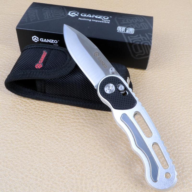Нож складной Ganzo G718 (длина: 175мм, лезвие: 72мм), металлик