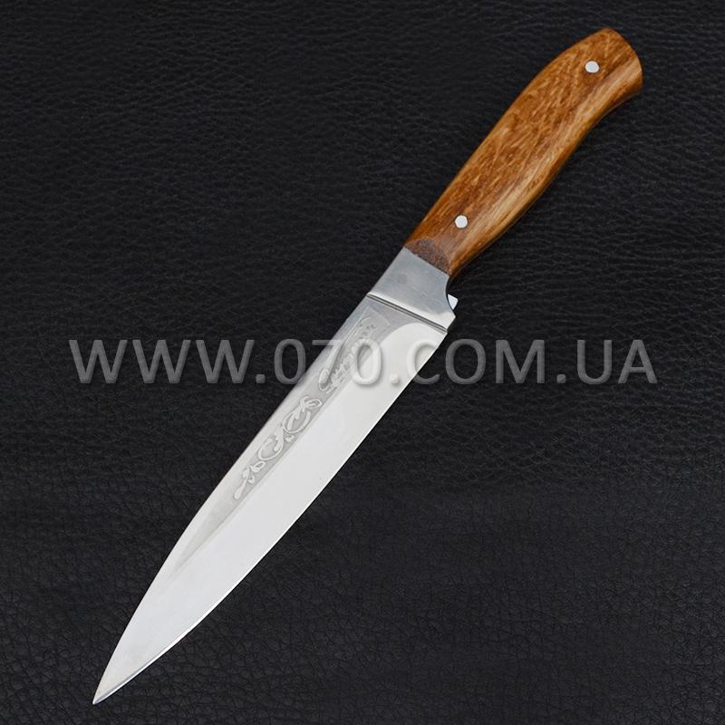 Нож бытовой, разделочный Спутник (260 х 27 х 1.5mm), с притыном