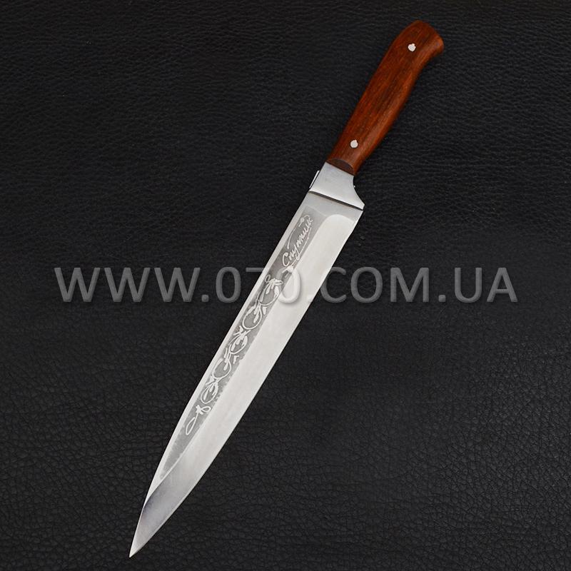Нож бытовой, разделочный Спутник (310 х 30 х 1.5mm), с притыном