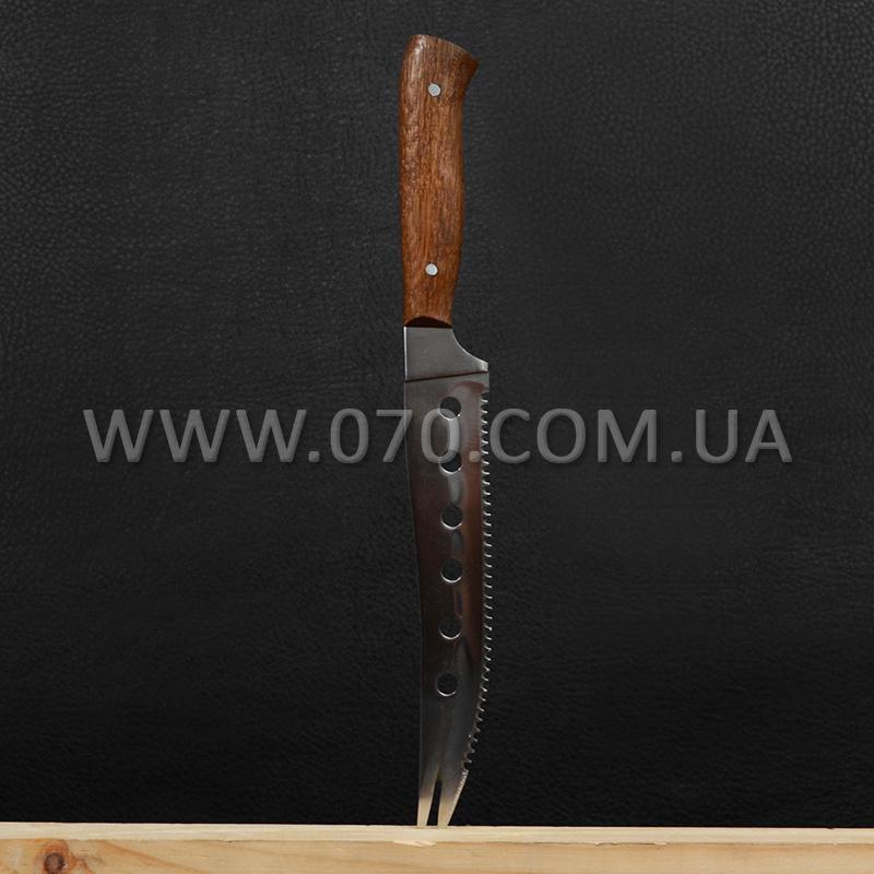 Нож бытовой, для сыра Спутник (275 х 30 x 2 мм), с притыном