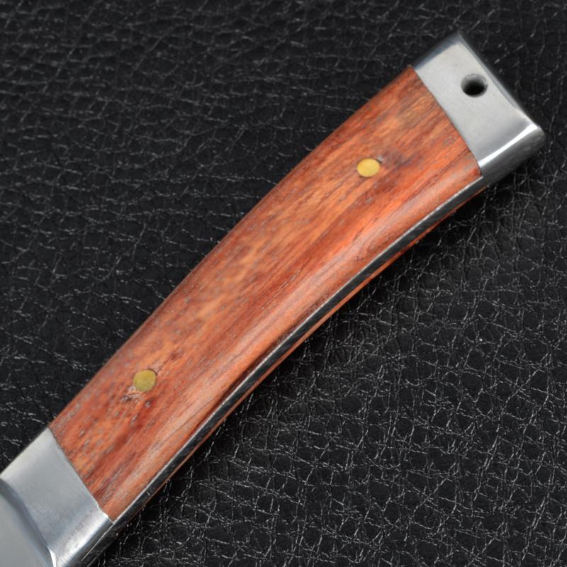 Нож фиксированный, рукоять дерево (длина: 21cm, лезвие: 10.5cm)
