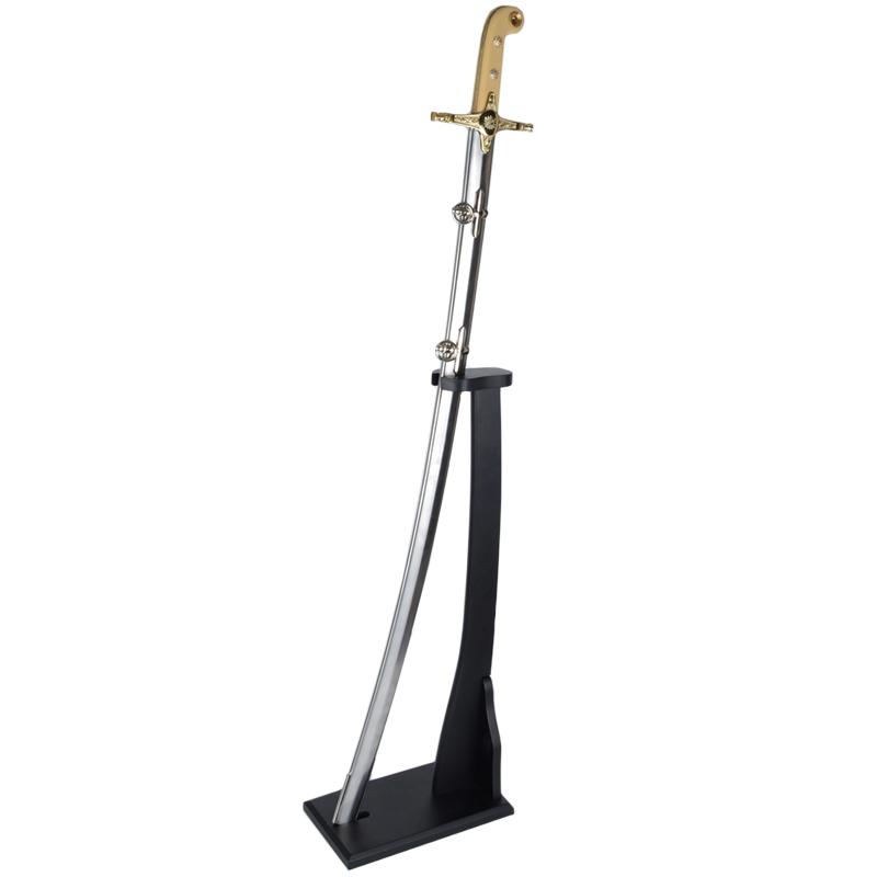 Сабля английская, на вертикальной подставке (длина: 97cm, лезвие: 85cm)