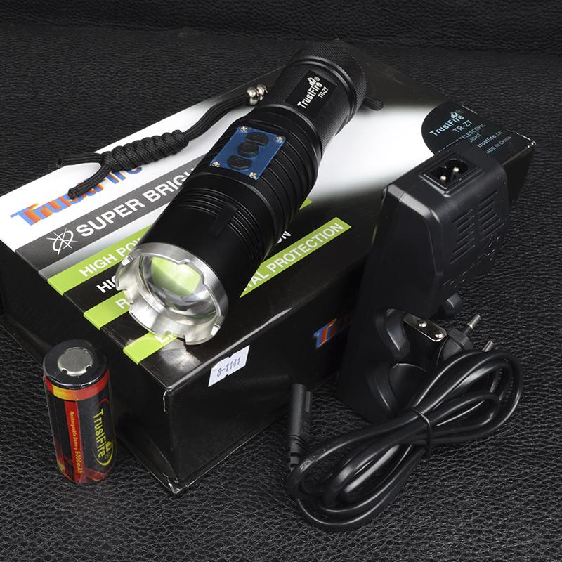 Фонарь фокусируемый TrustFire Z7 (Cree XM-L2, 550 люмен, 4 режимов, 1x26650/32650), комплект