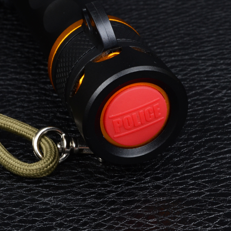 Фонарь Bailong BL-X007 (Cree XM-L T6, 500 люмен, 5 режимов + сирена, 1х18650/3хAAA), комплект