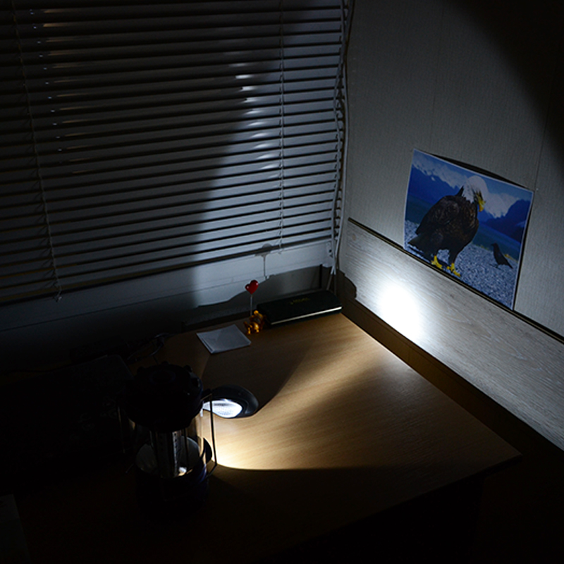 Кемпинговый фонарь (18+1 LED, 260 люмен, регулировка яркости, 3xD)