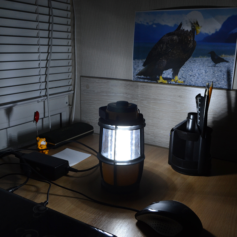 Кемпинговый фонарь (16 LED, 220 люмен, регулировка яркости, 3xAA)