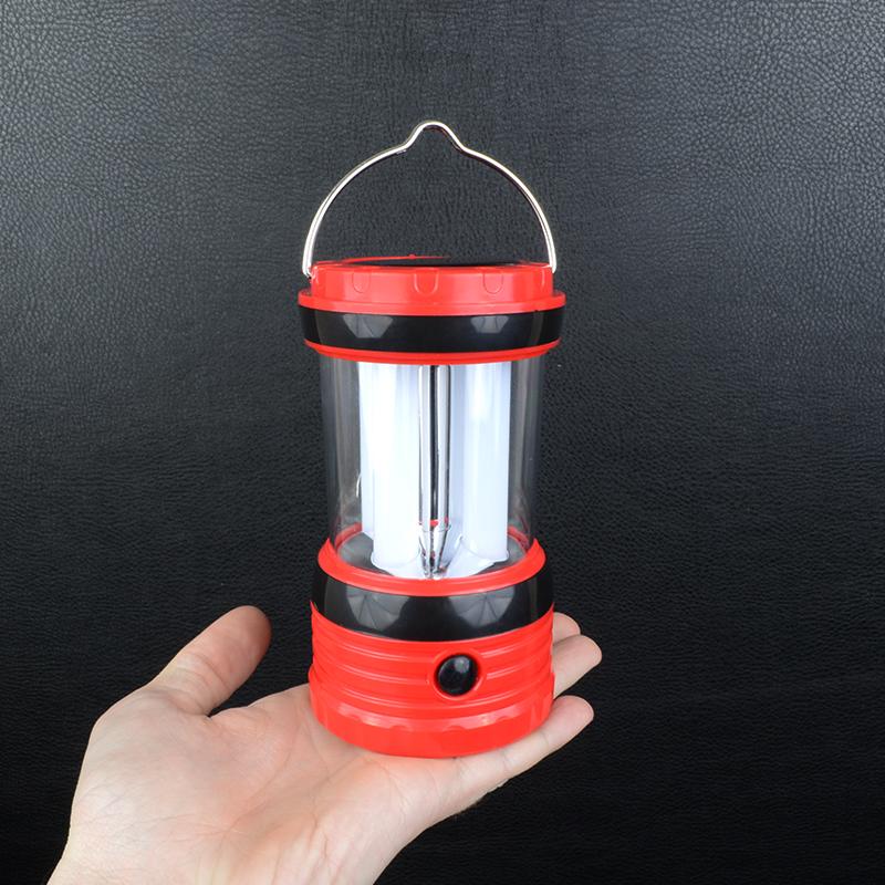 2 в 1 - Кемпинговый фонарь + Power Bank (8 LED, 200 люмен, регул. яркости, 3xAA/Solar/220В)