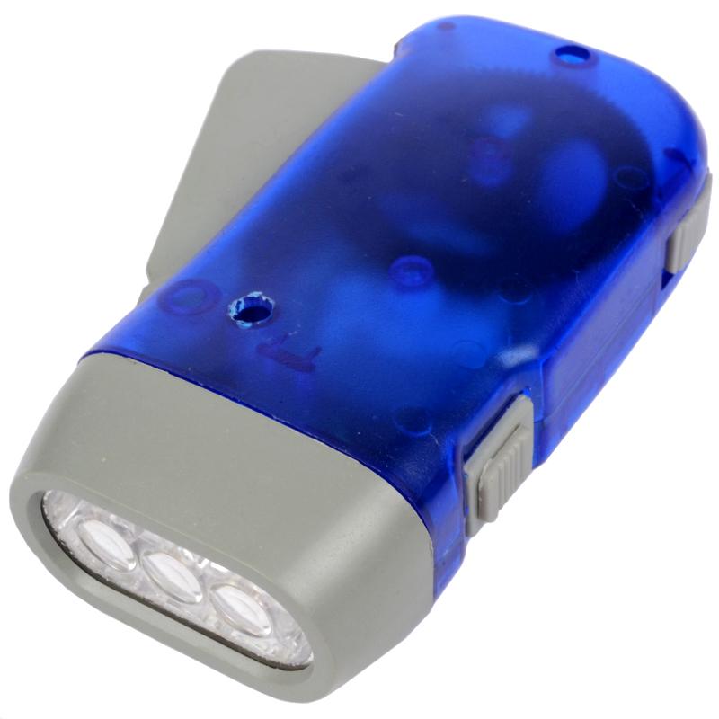 Динамо фонарь (3 LED, 50 люмен, динамо зарядка аккумулятора)