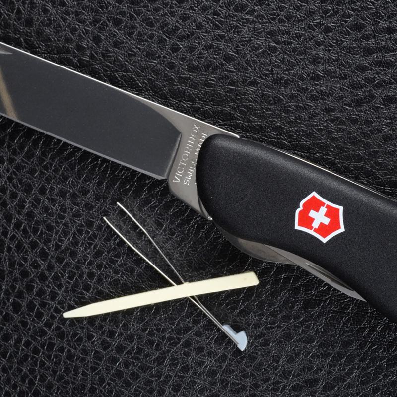 Нож складной, мультитул Victorinox Forester (111мм, 12 функций), черный 0.8363.3