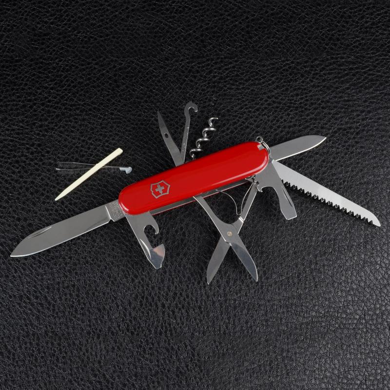 Нож складной, мультитул Victorinox Huntsman (91мм,15 функций), красный 1.3713
